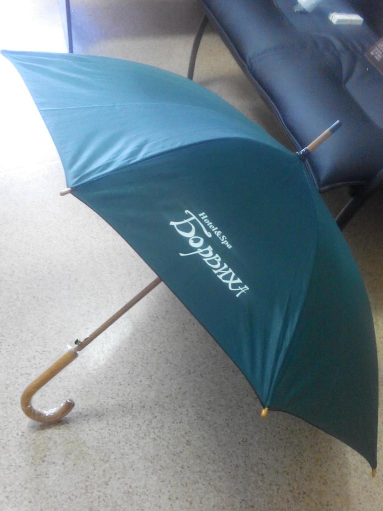 нанесение логотипа на зонт